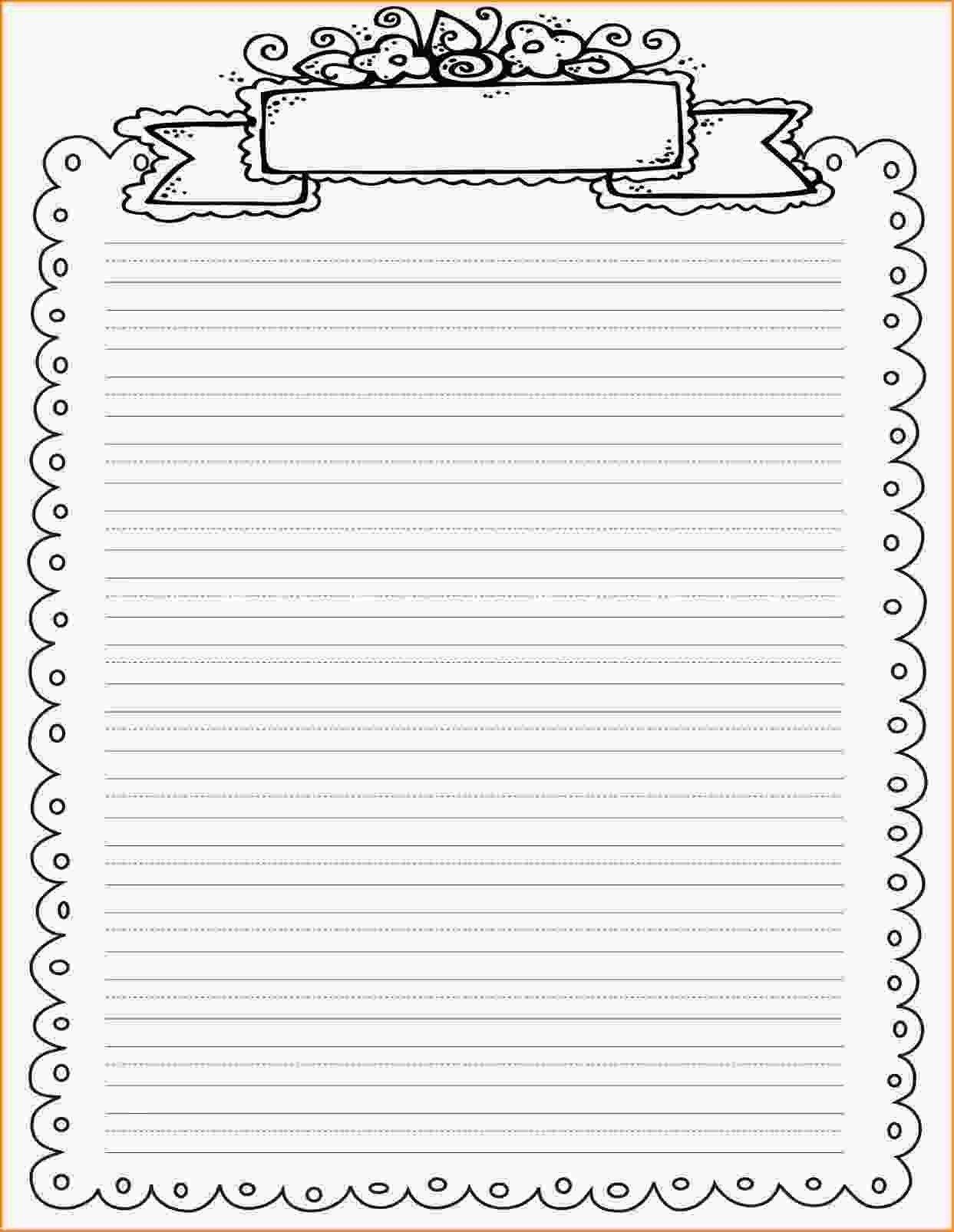 Pinmel Bratz On Art/teaching | Printable Lined Paper, Printable - Free Printable Writing Paper With Borders