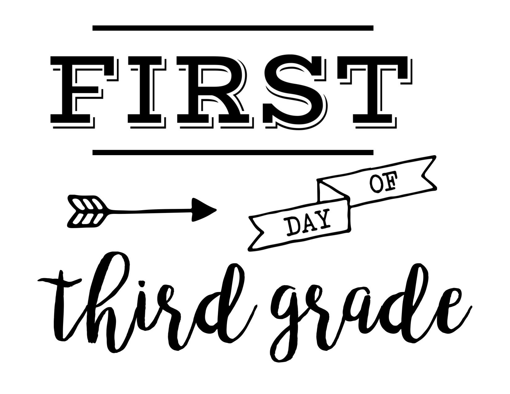 Pinmichelle Fuller On Kid Ideas | Last Day Of School, School - First Day Of Fourth Grade Free Printable
