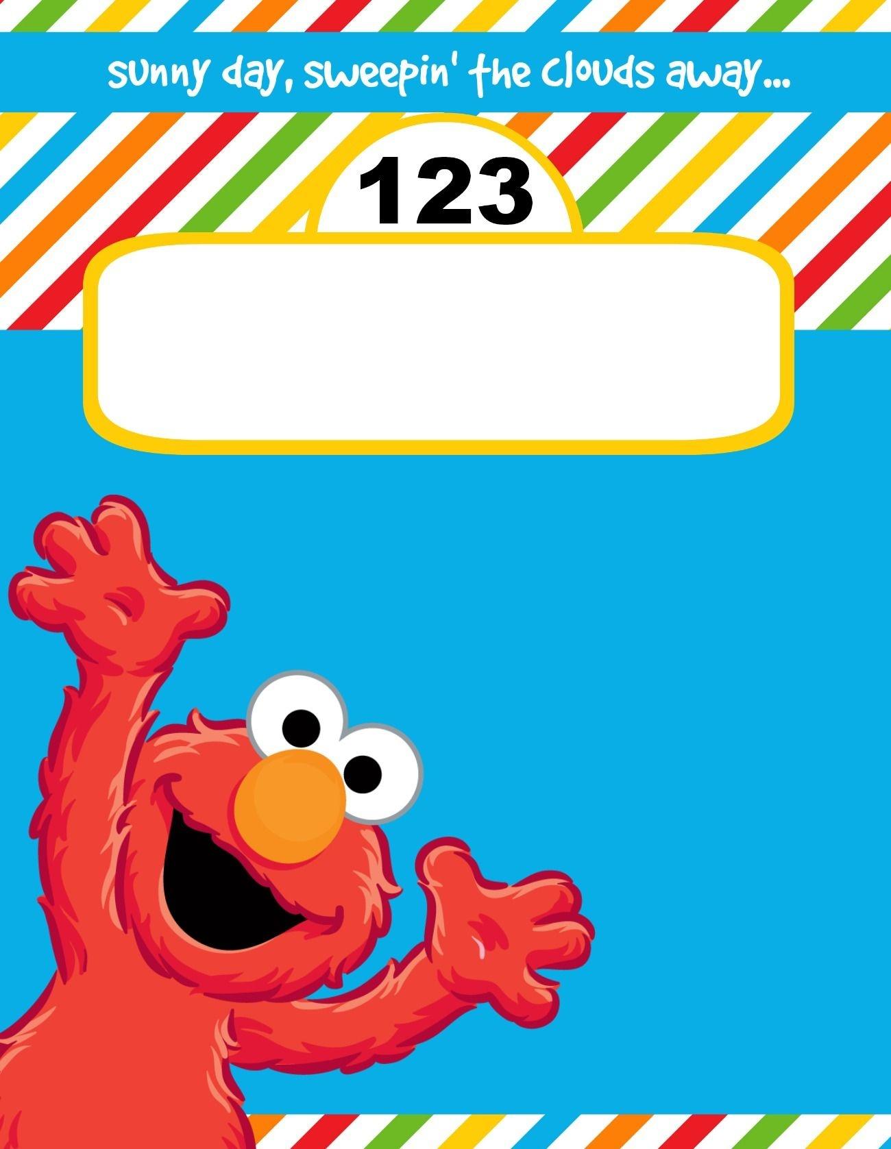Pinnuk Mack On Jae 1St Party In 2019 | Elmo Birthday Invitations - Free Printable Cookie Monster Birthday Invitations