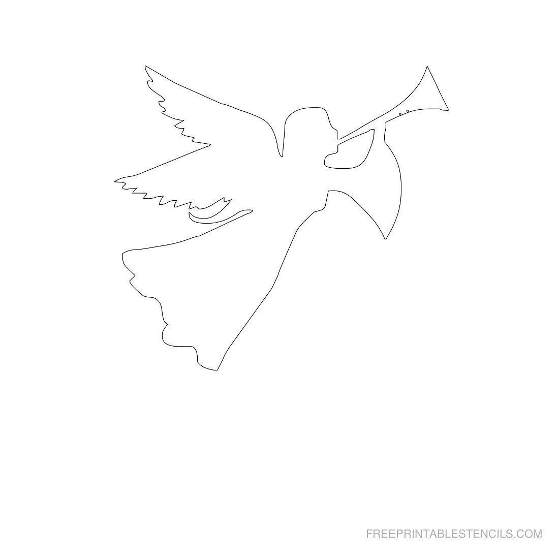 Pinstephanie Bargelski On Angels | Paper Angels Diy, Stencils - Free Printable Angels