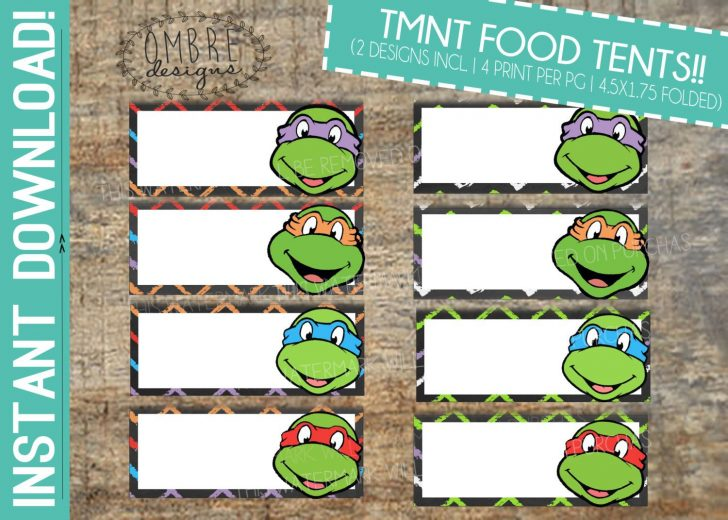 Free Printable Tmnt Food Labels