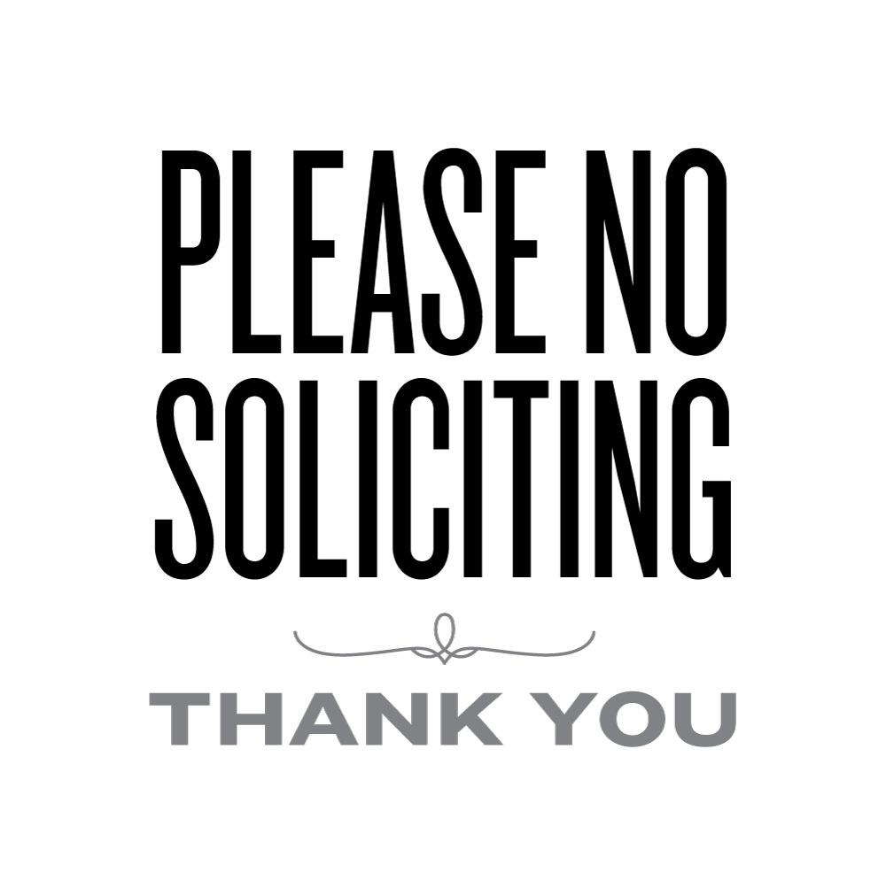 Please No Soliciting | Lemon Squeezy | Printables & Fonts | No - Free Printable No Soliciting Sign