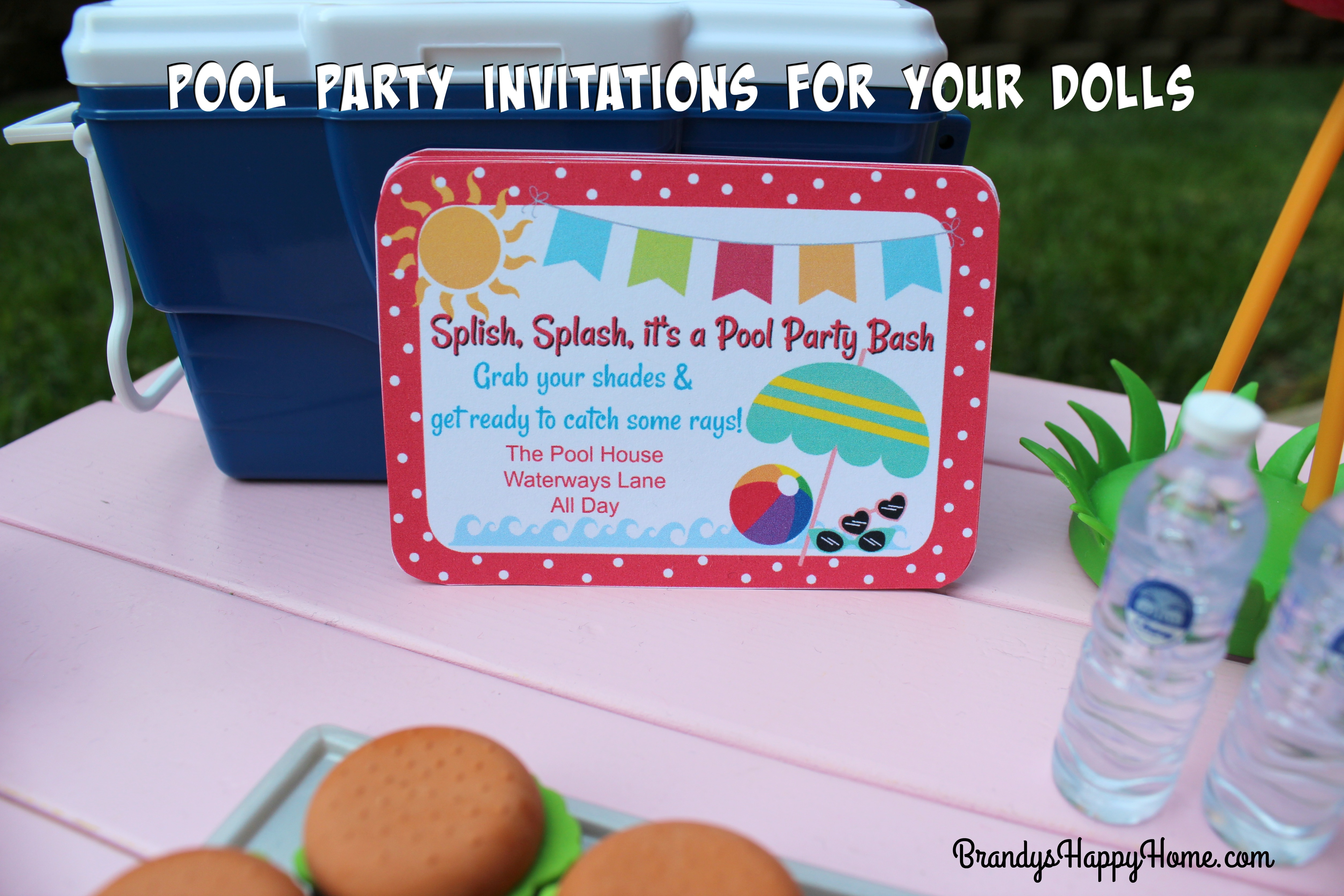 Pool Party Invitations For American Girl Dolls - American Girl Party Invitations Free Printable