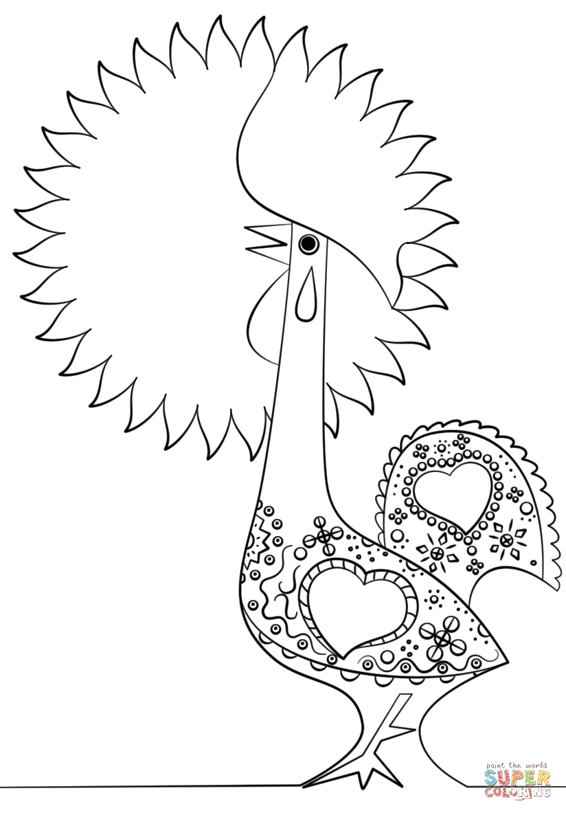 Portuguese Rooster Coloring Page | Free Printable Coloring Pages - Free Printable Pictures Of Roosters