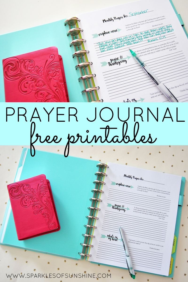 Prayer Journal Free Printables | Top Pins From Top Bloggers | Bible - Free Printable Prayer Journal