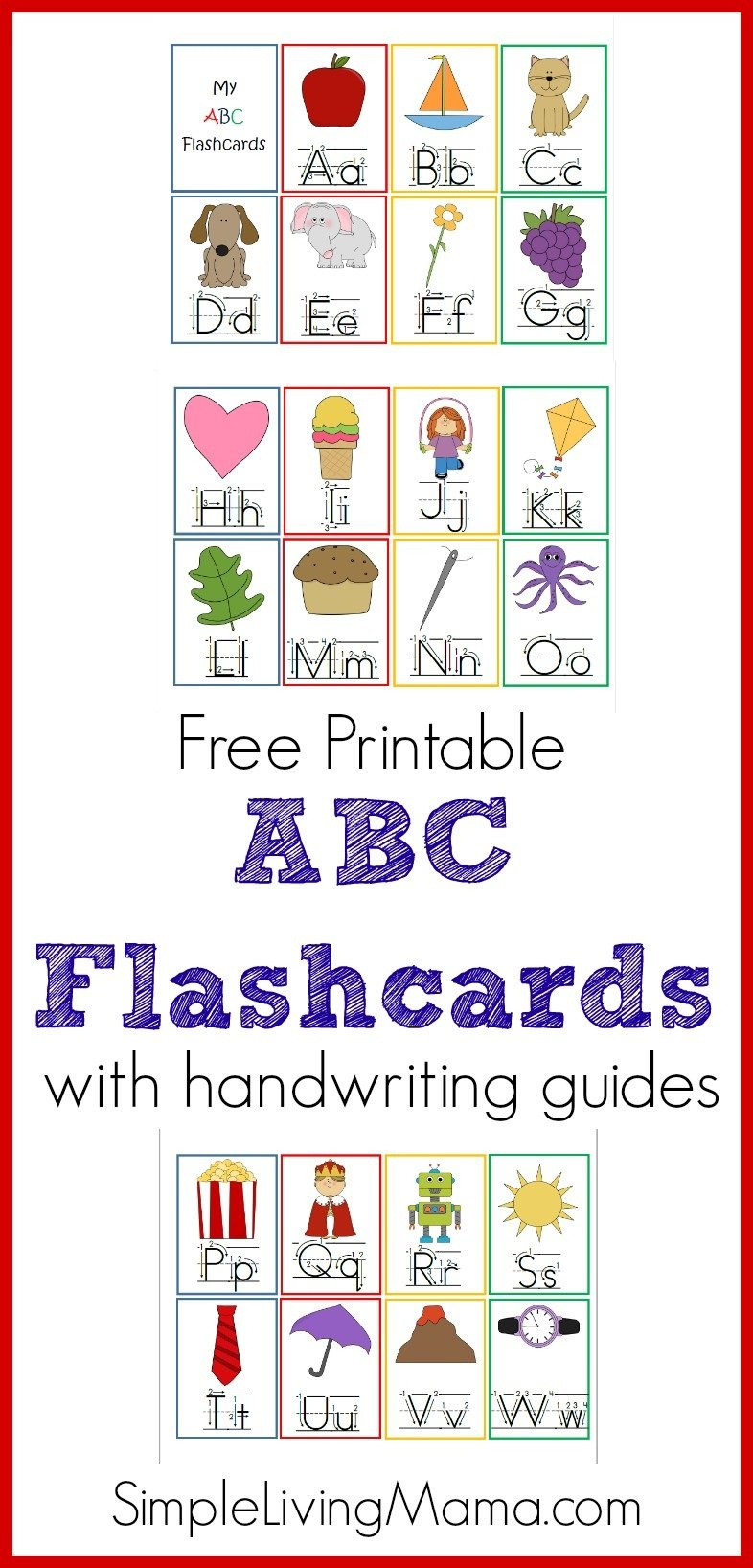 Preschool Abc Flashcards - Homeschool Printables For Free - Free Printable Abc Flashcards With Pictures