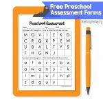Preschool Assessment Forms - Teaching Mama - Free Printable Informal Math Assessments