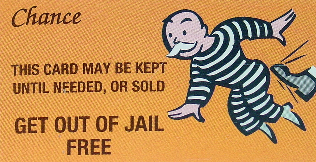 President And Congress Give Financial Fraudsters A Get-Out-Of Jail - Get Out Of Jail Free Card Printable