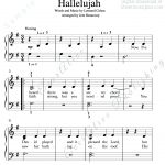 Print And Download. Hallelujah Easy Piano Music. Leonard Cohen   Free Printable Piano Sheet Music For Hallelujah By Leonard Cohen
