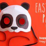 Print Paper Panda Mask. Animal Mask + Diy Homemade Costume Ideas!   Free Printable Paper Masks