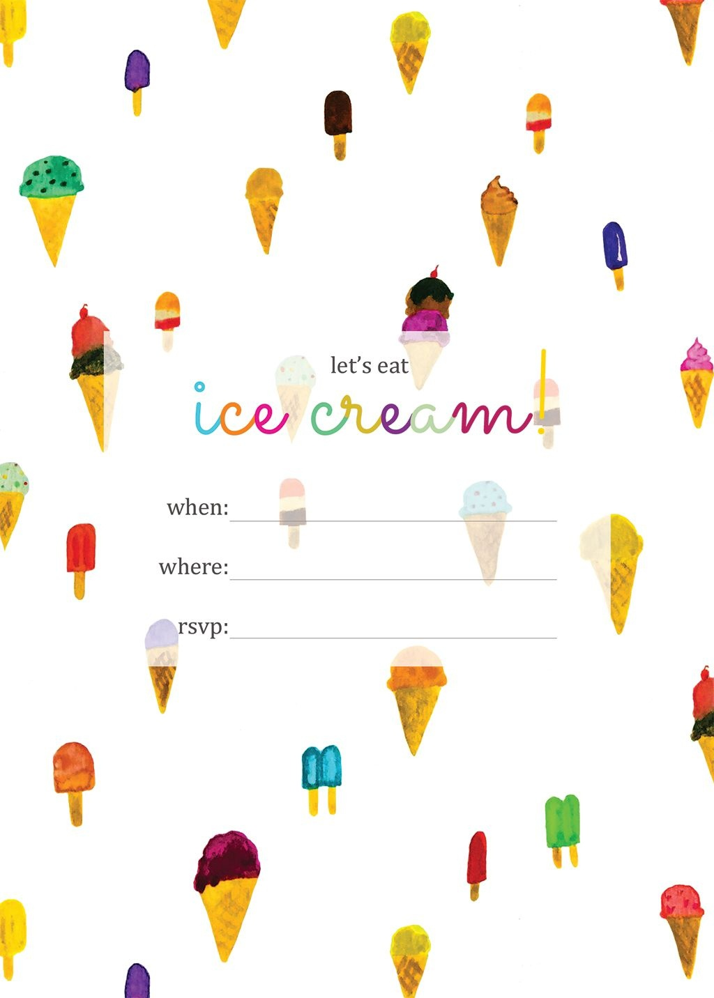 Print | Printables | Ice Cream Party, Ice Cream Invitation, Ice Cream - Ice Cream Party Invitations Printable Free
