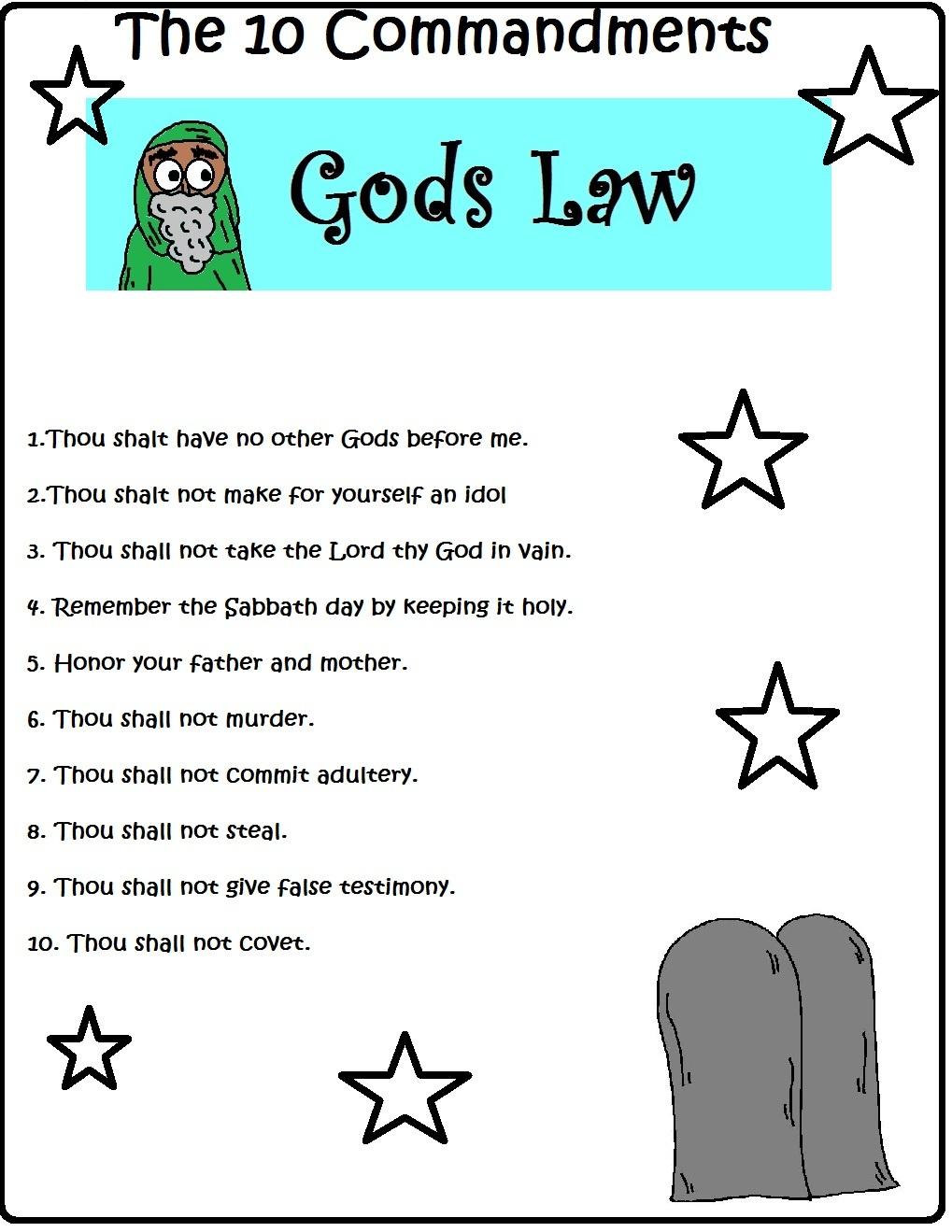 Printable 10 Commandments Coloring Pages Trials Ireland - Free Catholic Ten Commandments Printable
