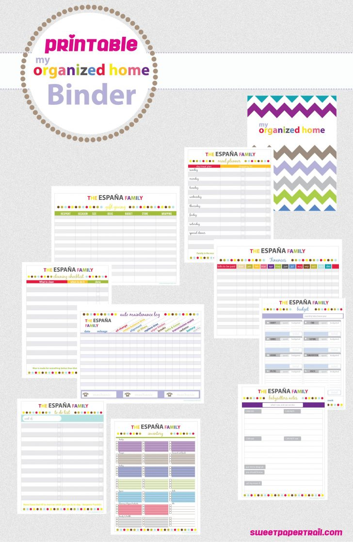 Free Printable Home Organizer Notebook