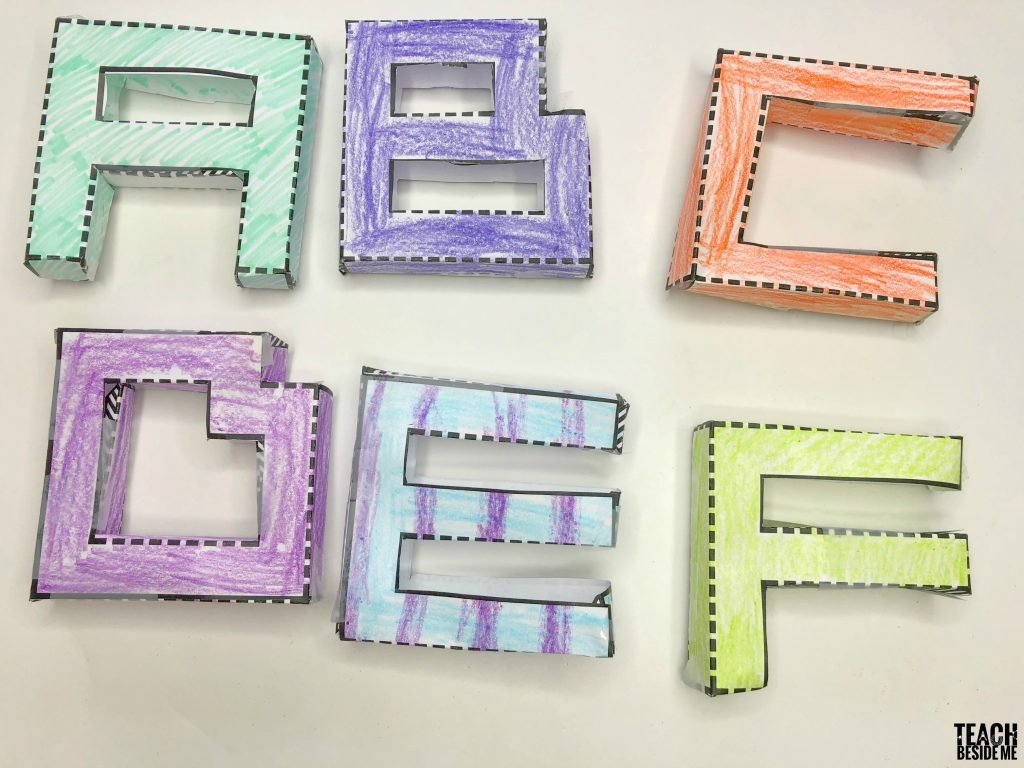 Printable 3D Letters – Teach Beside Me - Free Printable 3D Letters