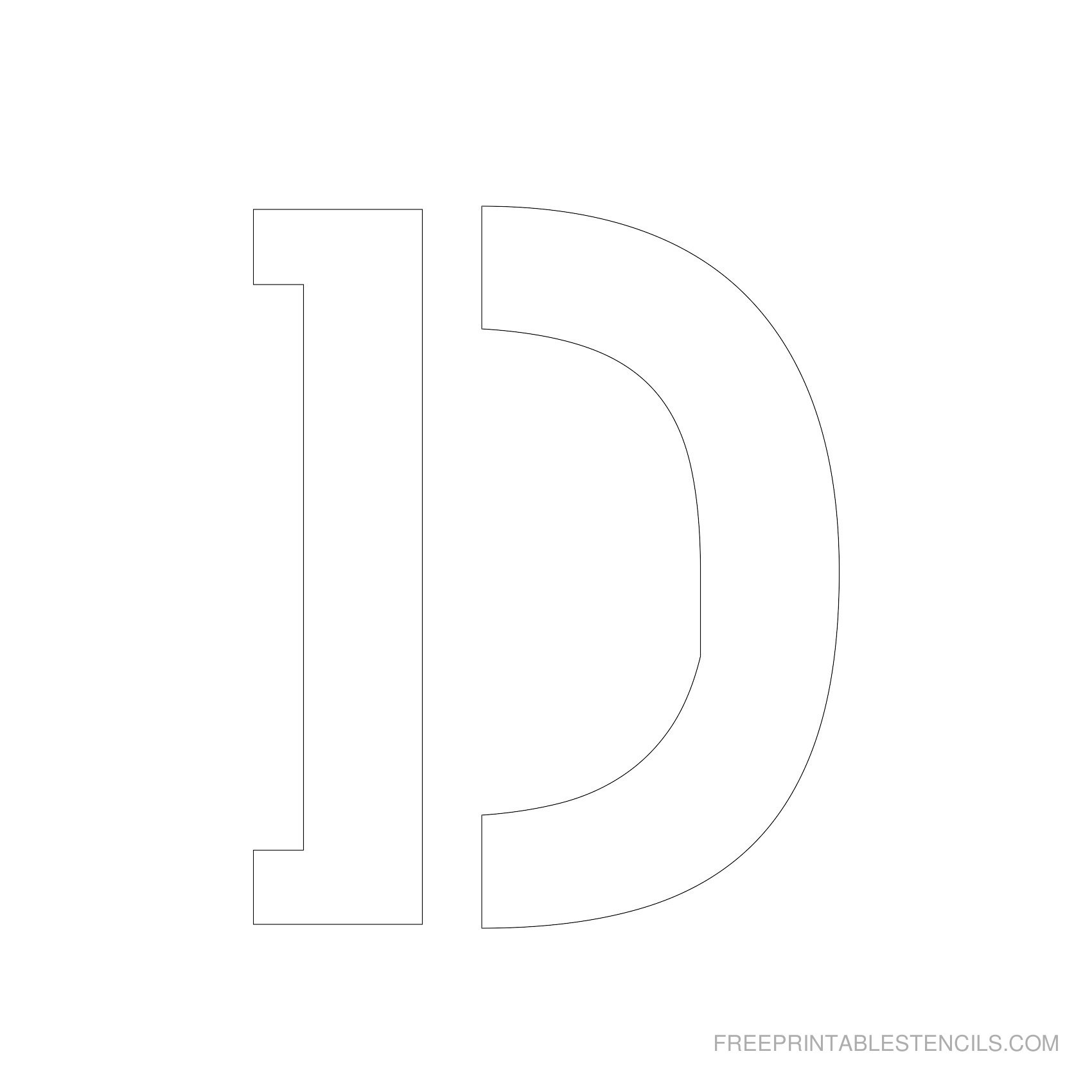 Printable 5 Inch Letter Stencils A-Z | Free Printable Stencils - Free Printable Letters Az