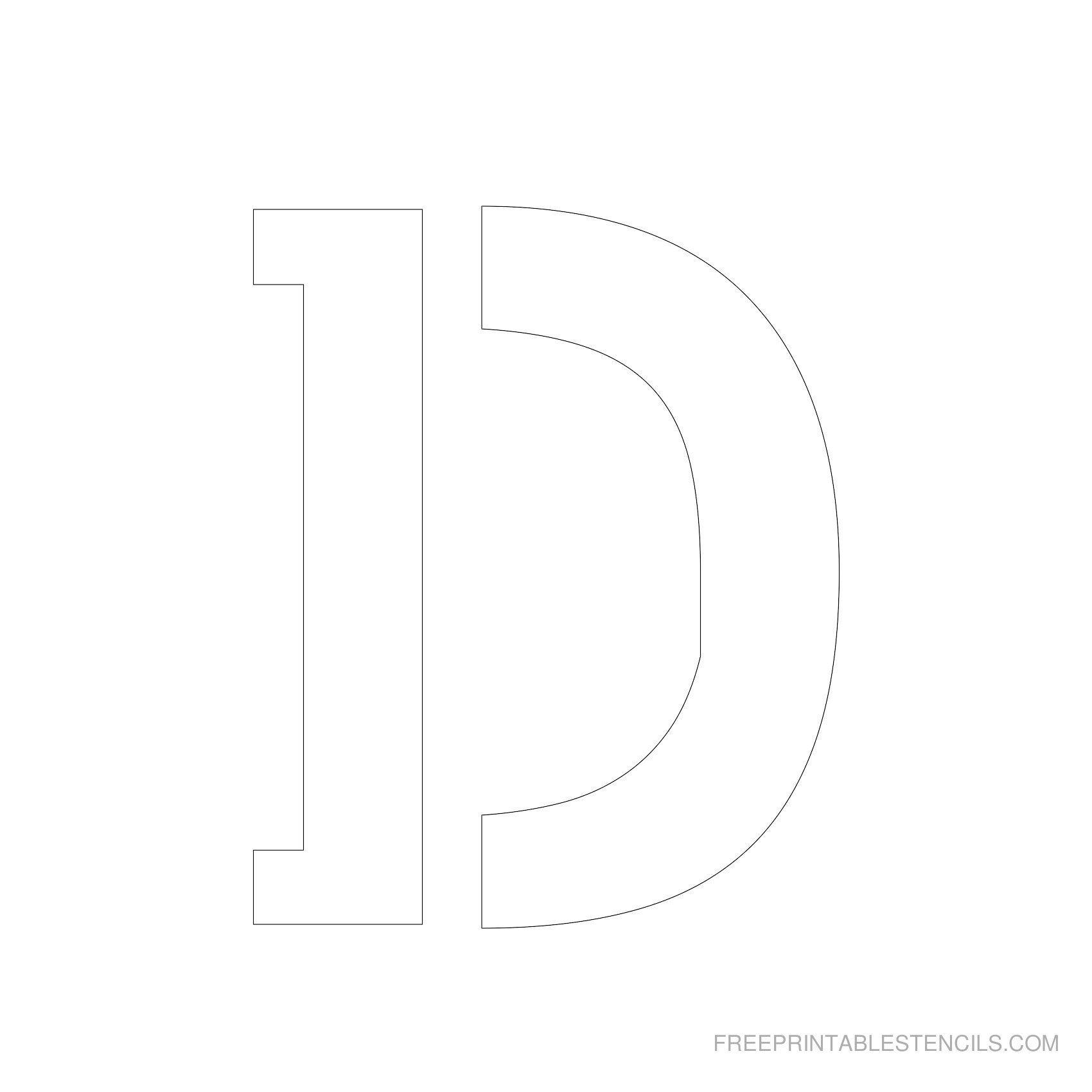Printable 5 Inch Letter Stencils | Lettering | Letter Stencils To - Free Printable 8 Inch Letters