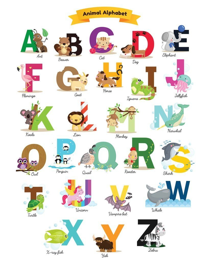 Printable Alphabet Every Child Should Have | Slike | Animal Alphabet - Free Printable Animal Alphabet Letters