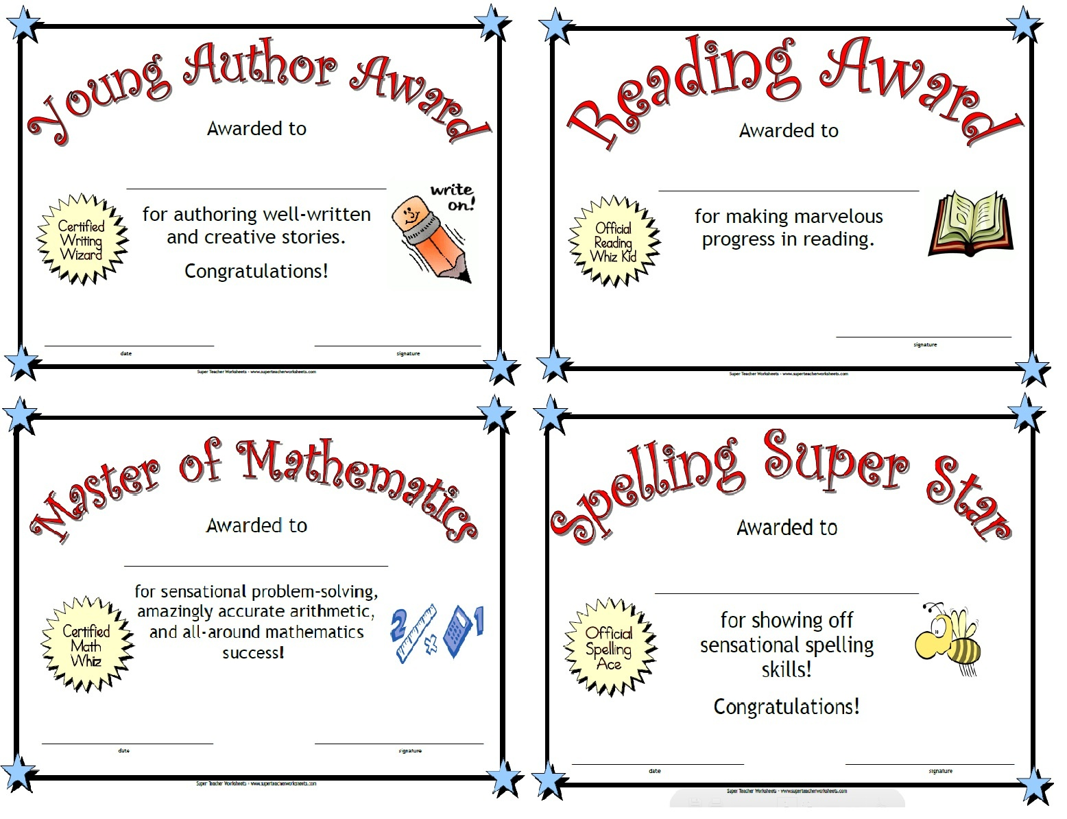 Printable Awards - Free Printable Awards