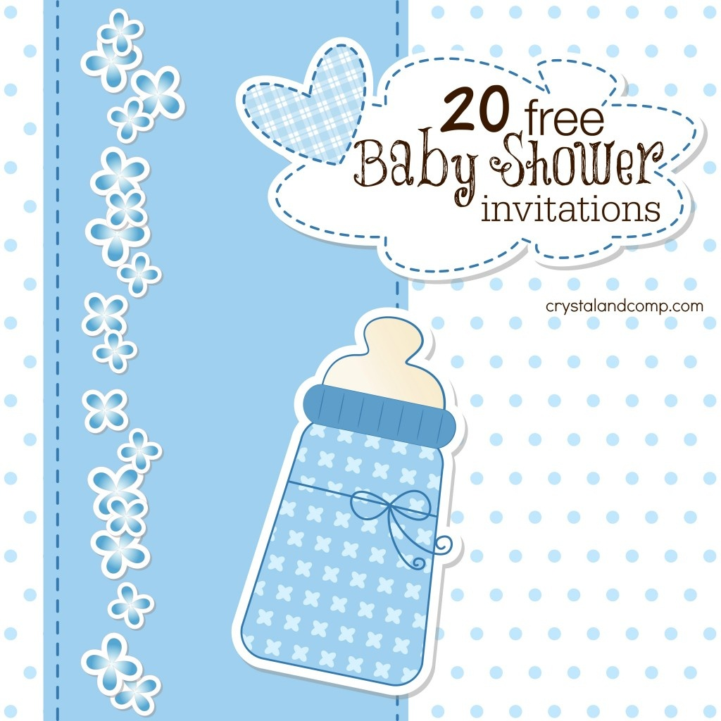 Printable Baby Shower Invitations - Free Printable Blank Baby Shower Invitations