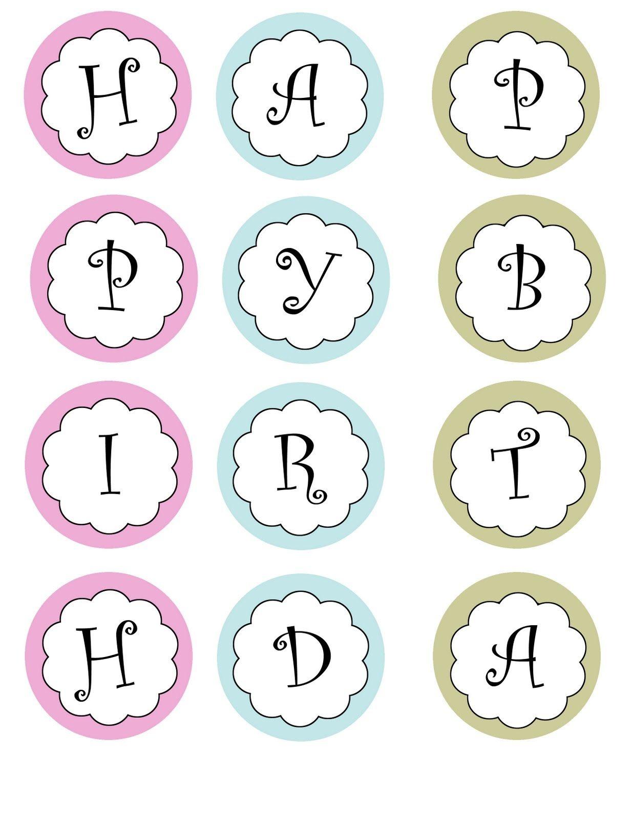 Printable Banners Templates Free | Print Your Own Birthday Banner - Free Happy Birthday Printable Letters