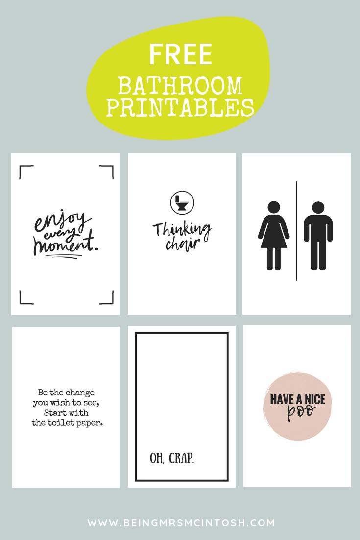 Printable Bathroom Signs | Being Mrs Mcintosh - Free Printable Funny Signs