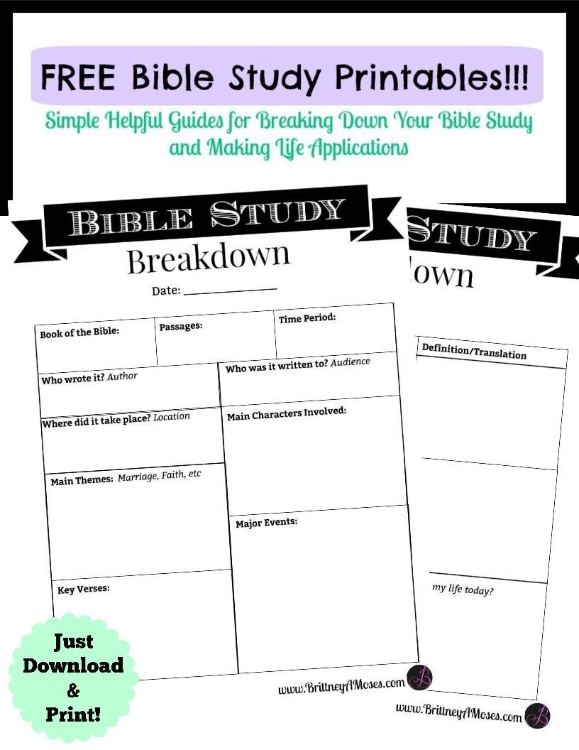 Printable Bible Study Guide | Jeff's | Bible Study Guide, Inductive - Bible Lessons For Adults Free Printable