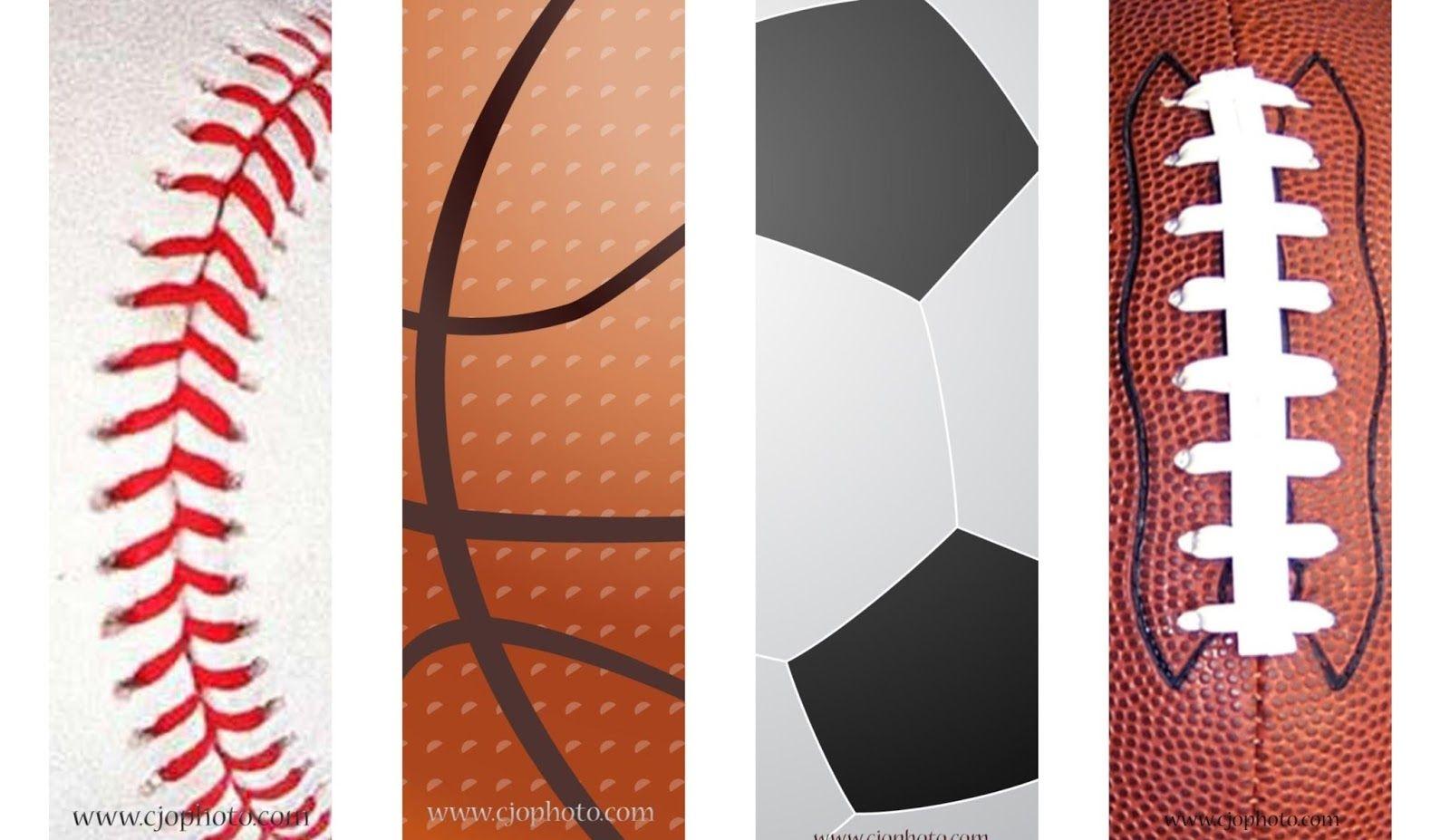 Printable Bookmarks: Sports | Free Printable Bookmarks | Bookmarks - Free Printable Sports Bookmarks