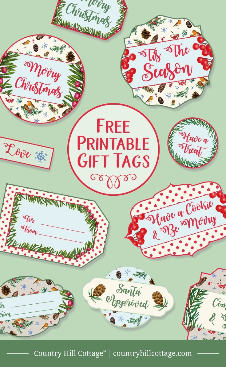 Printable Christmas Gift Tags | Christmas Gifts | Christmas Gift - Free Printable Christmas Food Labels