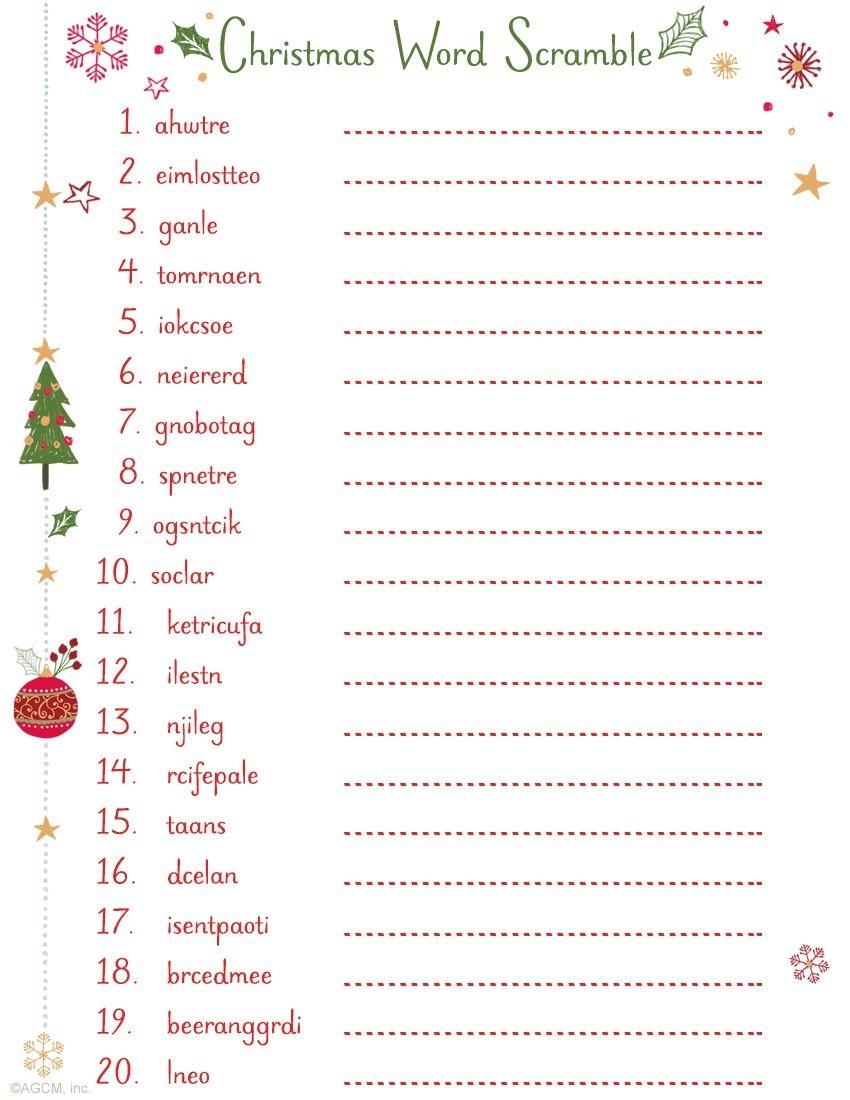 Printable Christmas Word Scramble | Christmas Ideas | Christmas Word - Free Printable Christmas Word Games For Adults