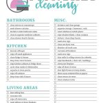 Printable Cleaning Checklists For Daily, Weekly And Monthly Cleaning – Free Printable Housework Checklist