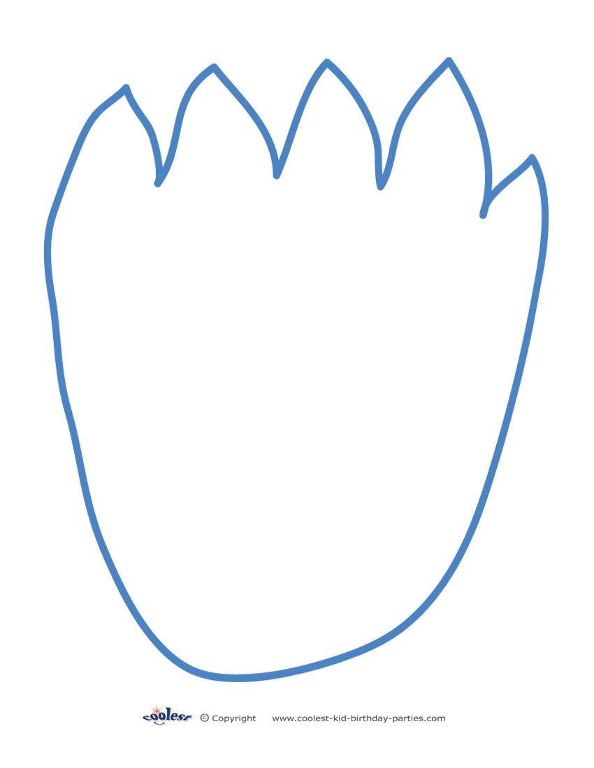 Printable Cookie Monster Footprint - Coolest Free Printables - Free Printable Footprints