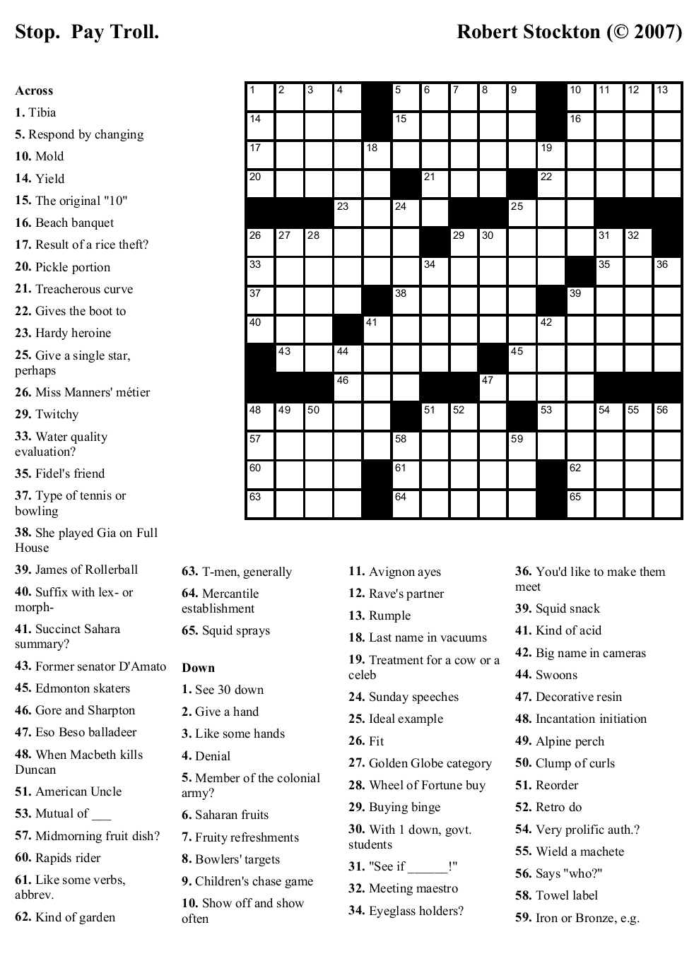 Printable Crosswords About Friendship Trials Ireland - Free Printable Sunday Crossword Puzzles