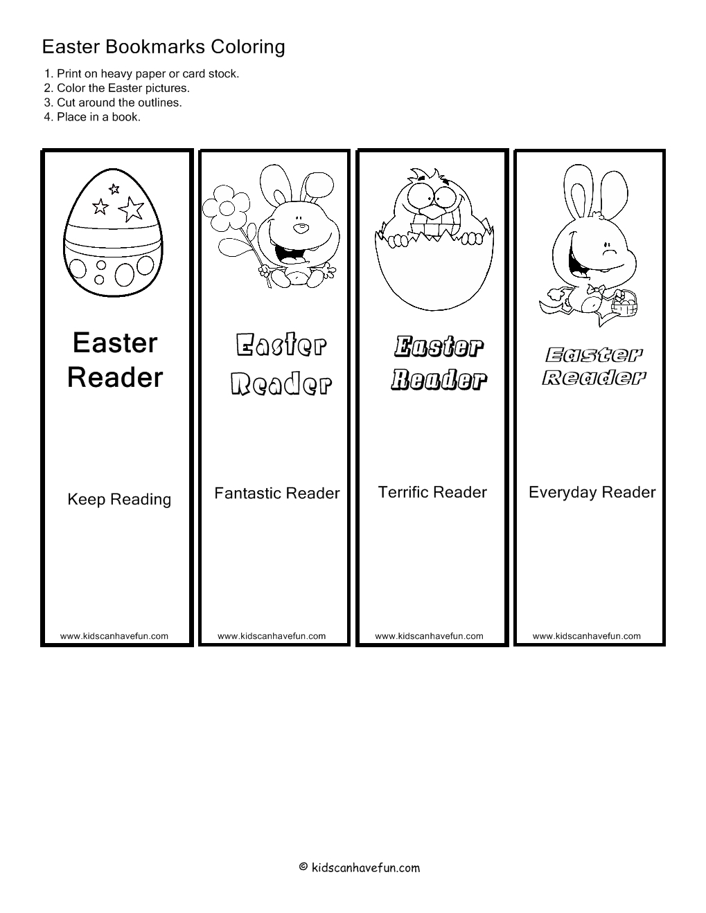 Printable Easter Bookmarks – Happy Easter & Thanksgiving 2018 - Free Printable Religious Easter Bookmarks