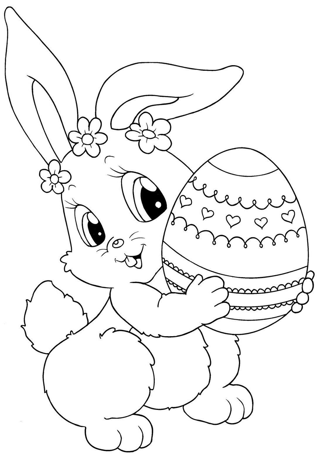Printable Easter Colorings Free Online Blank Egg Cute | Coloring Pages - Free Printable Easter Coloring Pictures