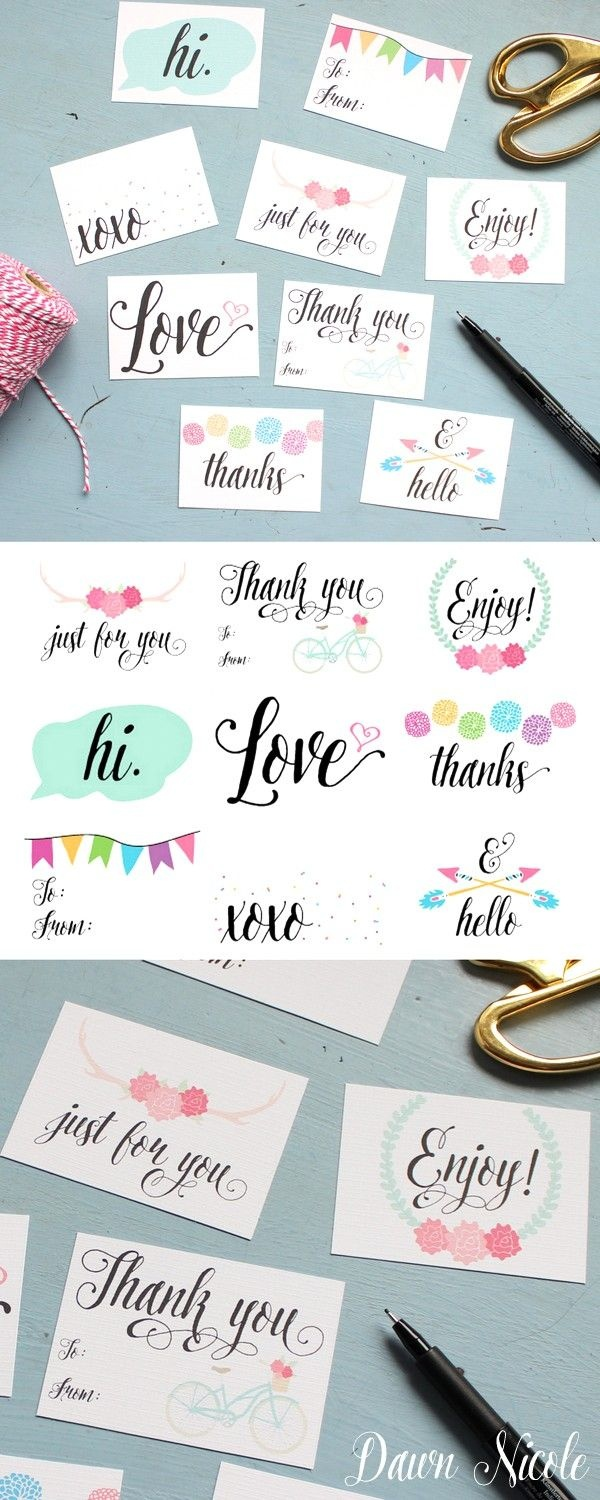 Printable Everyday Gift Tags | All Time Favorite Printables | Gift - Diy Gift Tags Free Printable