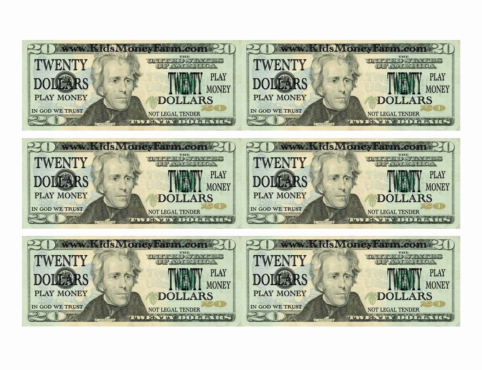 Printable Fake Money Templates Lovely 7 Best Of Printable Play Money - Free Printable Fake Money That Looks Real