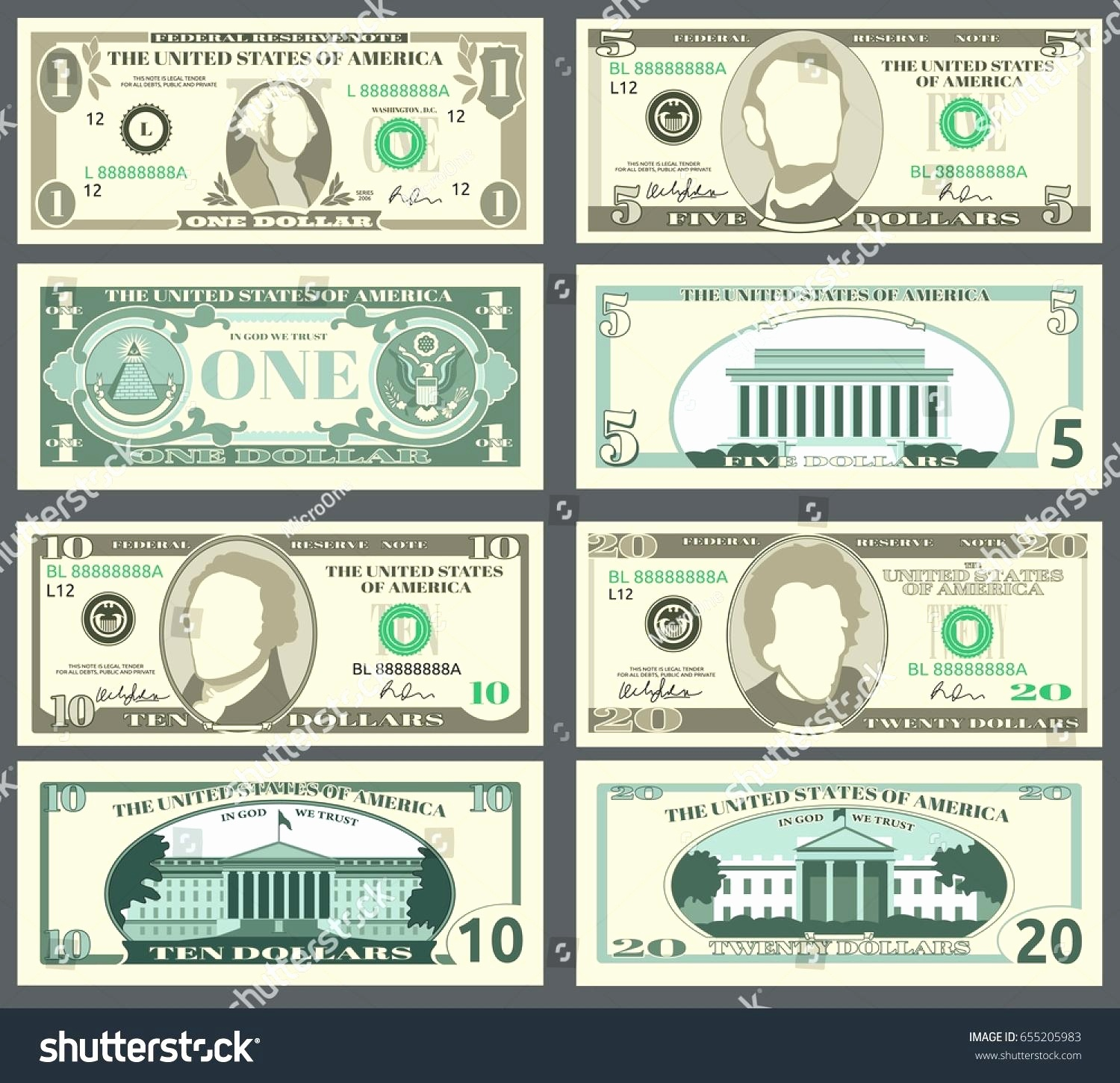 Printable Fake Money Templates Luxury Fake Money Template - Free Printable Money
