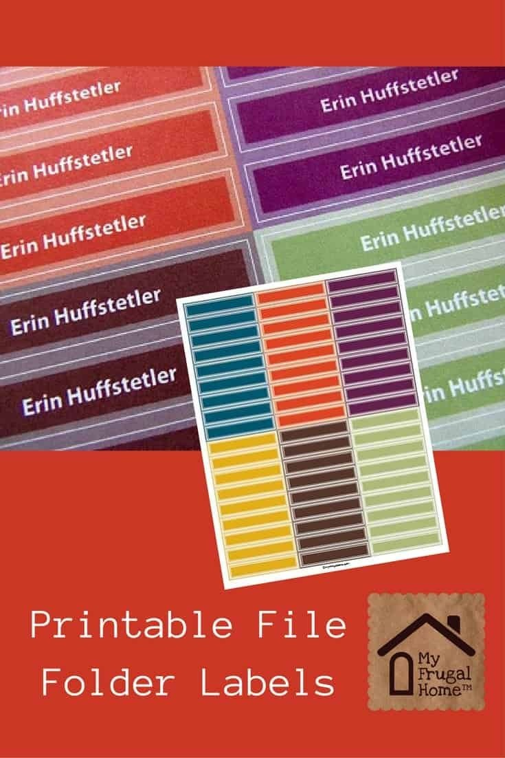 Printable File Folder Labels In 2019 | For My Clean Slate Project - Free Printable File Folder Labels