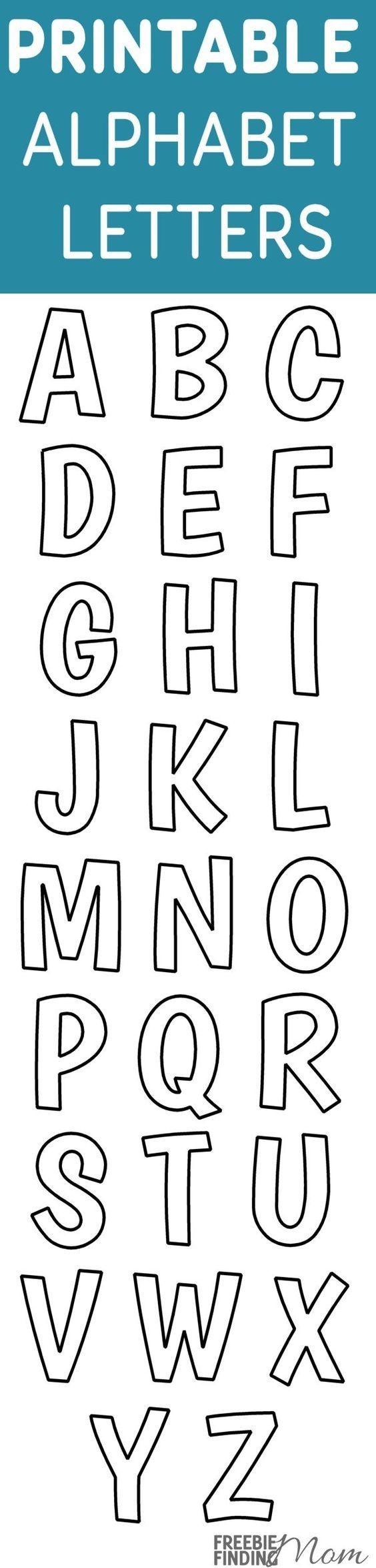 Printable Free Alphabet Templates | The Group Board On Pinterest - Free Printable Alphabet Stencils Templates