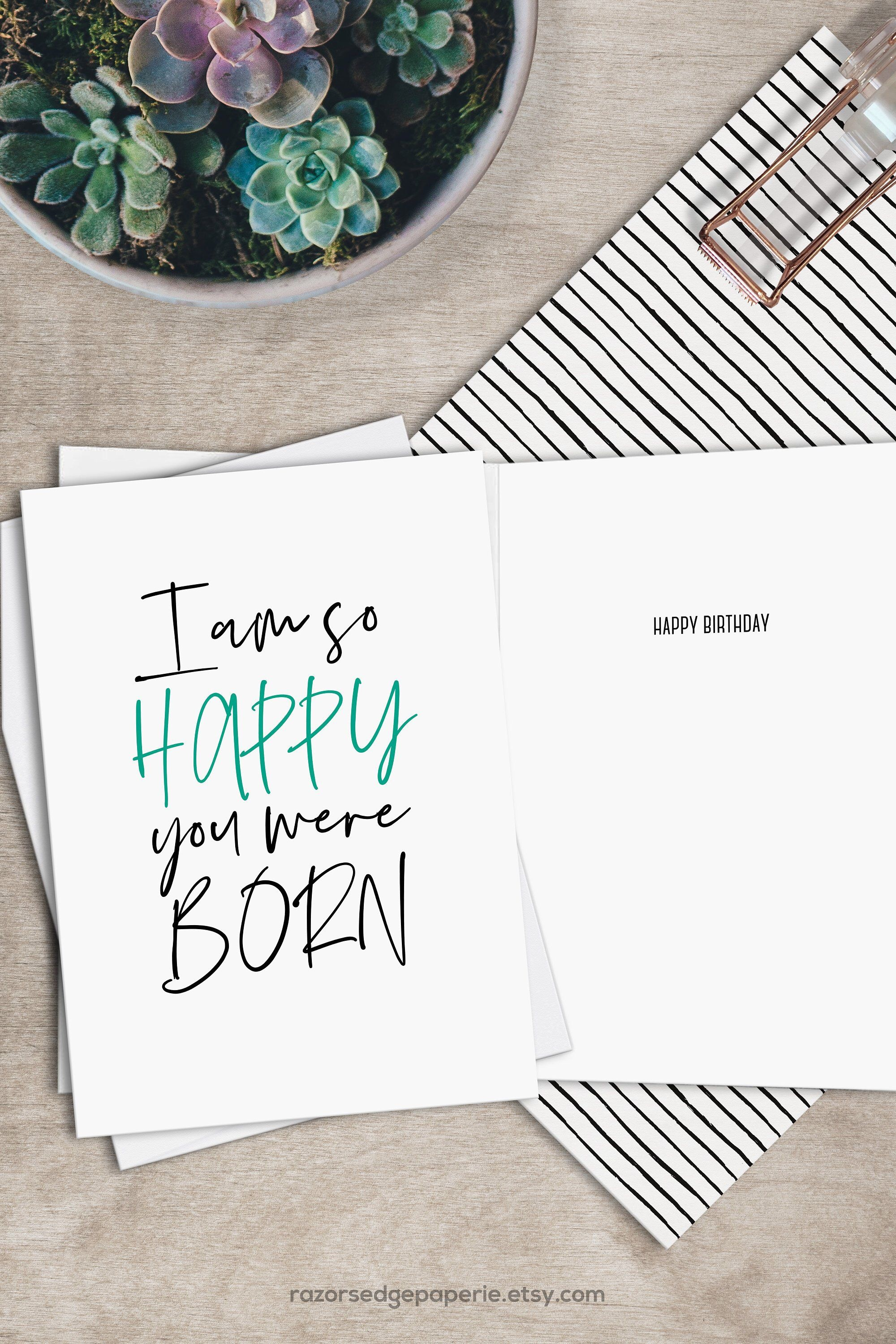 Printable Funny Birthday Card Instant Download Digital Greeting Card - Free Printable Funny Birthday Cards For Coworkers