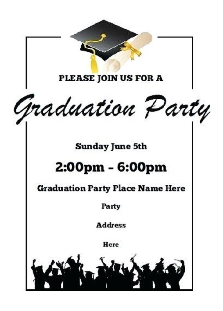 Printable Graduation Party Invitations | Party Invitation Card - Free Printable Graduation Party Invitations