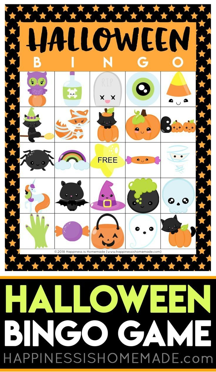 Printable Halloween Bingo Cards - This Halloween Bingo Game Is A Ton - Free Printable Halloween Bingo