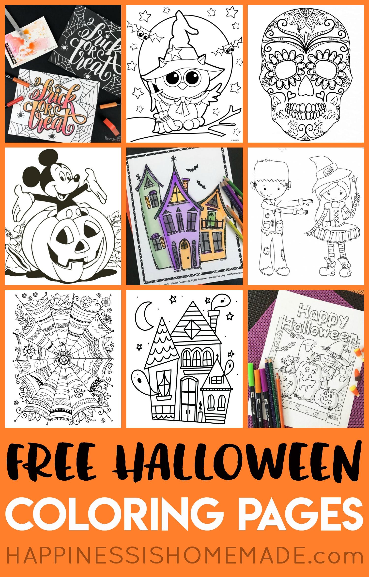 Printable Halloween Coloring Books - Happiness Is Homemade - Free Printable Halloween Homework Pass
