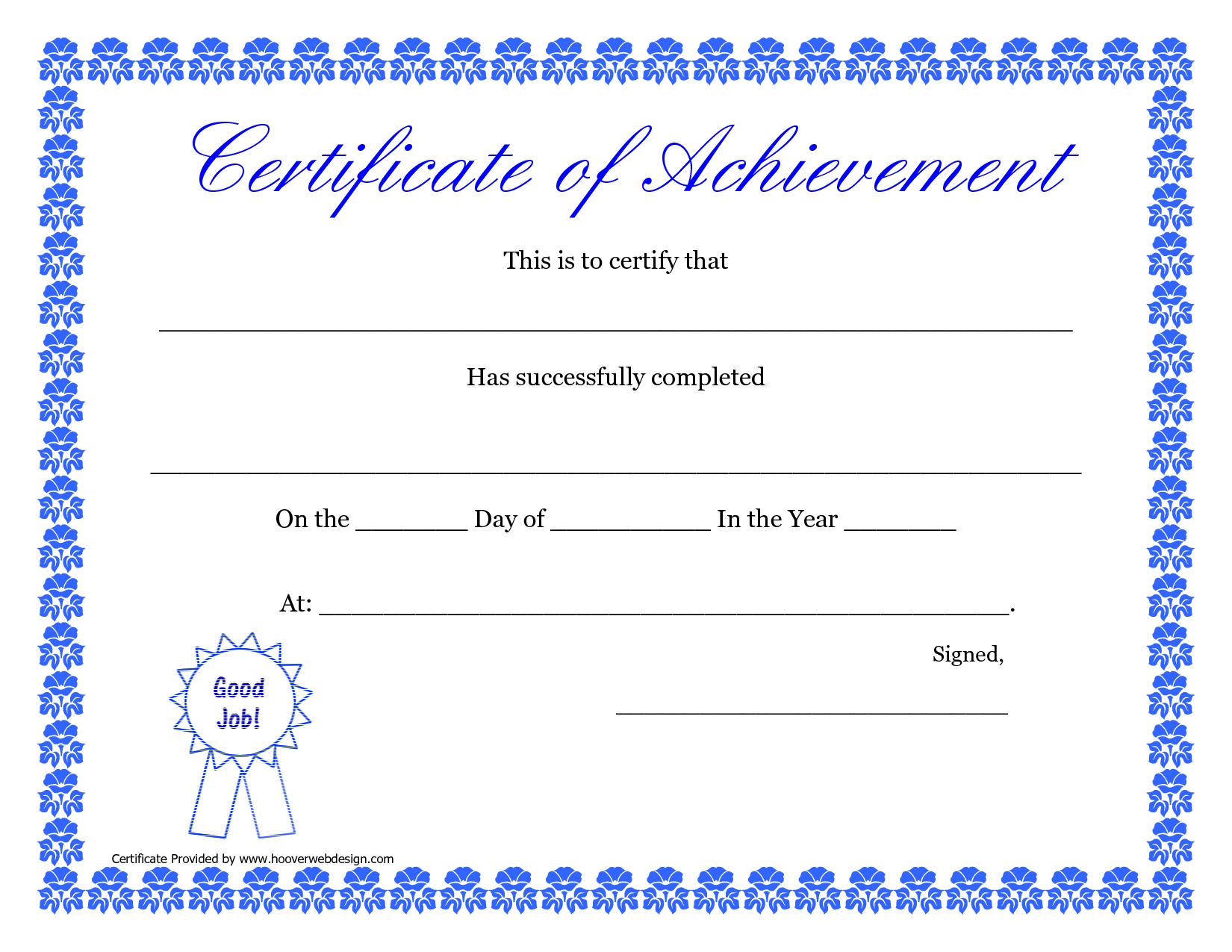 Printable Hard Work Certificates Kids   Printable Certificate Of - Free Printable Honor Roll Certificates Kids