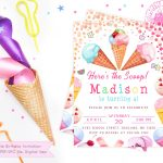 Printable Ice Cream Party Invitation Girl Girl Ice Cream | Etsy - Ice Cream Party Invitations Printable Free