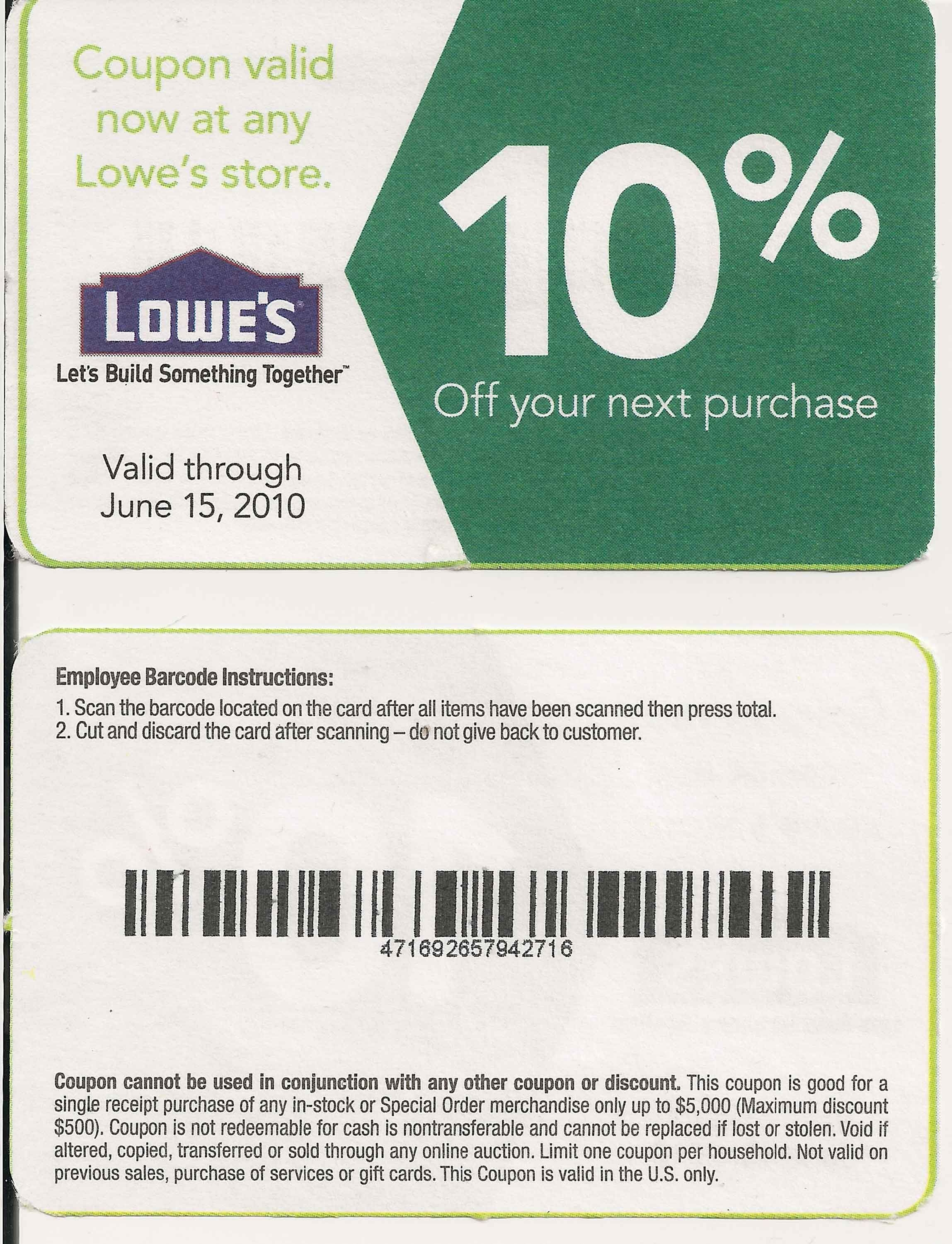 Printable Lowes Coupon 20% Off &10 Off Codes December 2016 | Stuff - Lowes Coupons 20 Free Printable