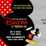 Printable Mickey Mouse Invitations Template | Charles' 1St Bday In   Free Printable Mickey Mouse Invitations