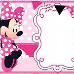 Printable Minnie Mouse Birthday Party Invitation Template   Free   Free Printable Mickey Mouse Invitations