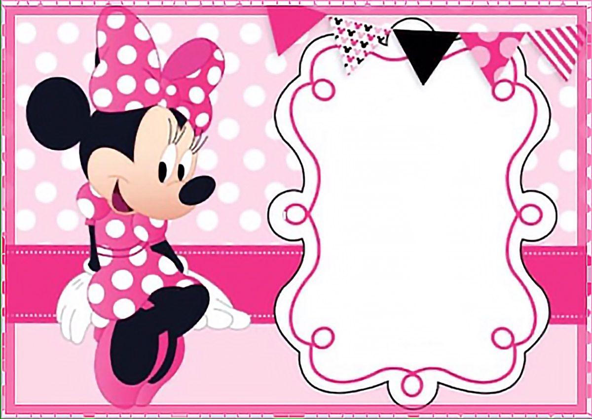 Printable Minnie Mouse Birthday Party Invitation Template - Free - Free Printable Mickey Mouse Invitations