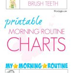 Printable Morning Routine Charts | Bloggers' Fun Family Projects   Free Printable Morning Routine Chart